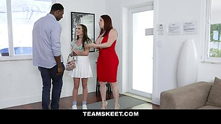 Big Titted Milf And Her BF Let The Teen Babysitter Into Their Private Life