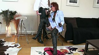 Mature in thigh boots glory hole smoke