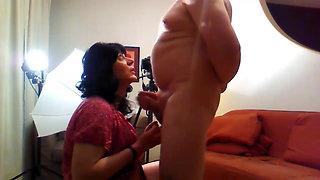 blowjob, anal fuck & cumswallowing 4 crossdresser Alexandra