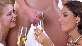 Anissa Kate & Violette Pink in Naked Nuptials - StepmomLessons