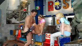 Watch Rocco\'s amazing behind the scene with 2 cute teens!