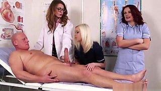 Cfnm Doctor Babe Makes Patient Spray Jizz