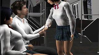 Girlfriends - Hottest 3D anime sex clips