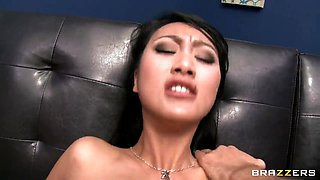 Asian Evelyn Lin and Keiran Lee with his big cock