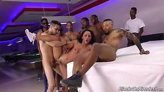 Amara Romani Takes All The Guys Inside The Pool Club