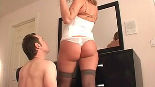 Mitress Nicolette punishing her chastity slave