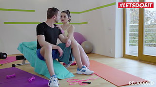 LETSDOEIT Hardcore Gym Sex With Hot Italian Valentina Bianco